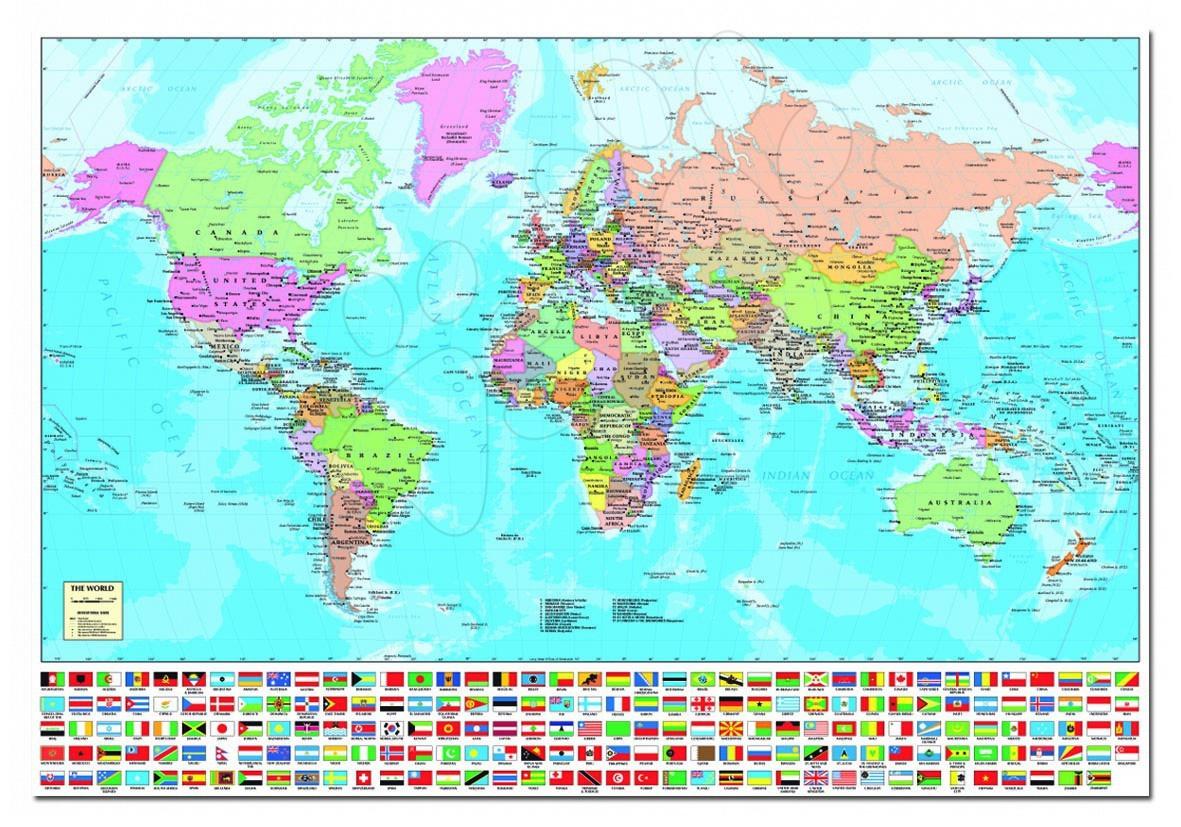 Puzzle Harta Lumii Educa 1500 bucăţi 85 x 60 cm