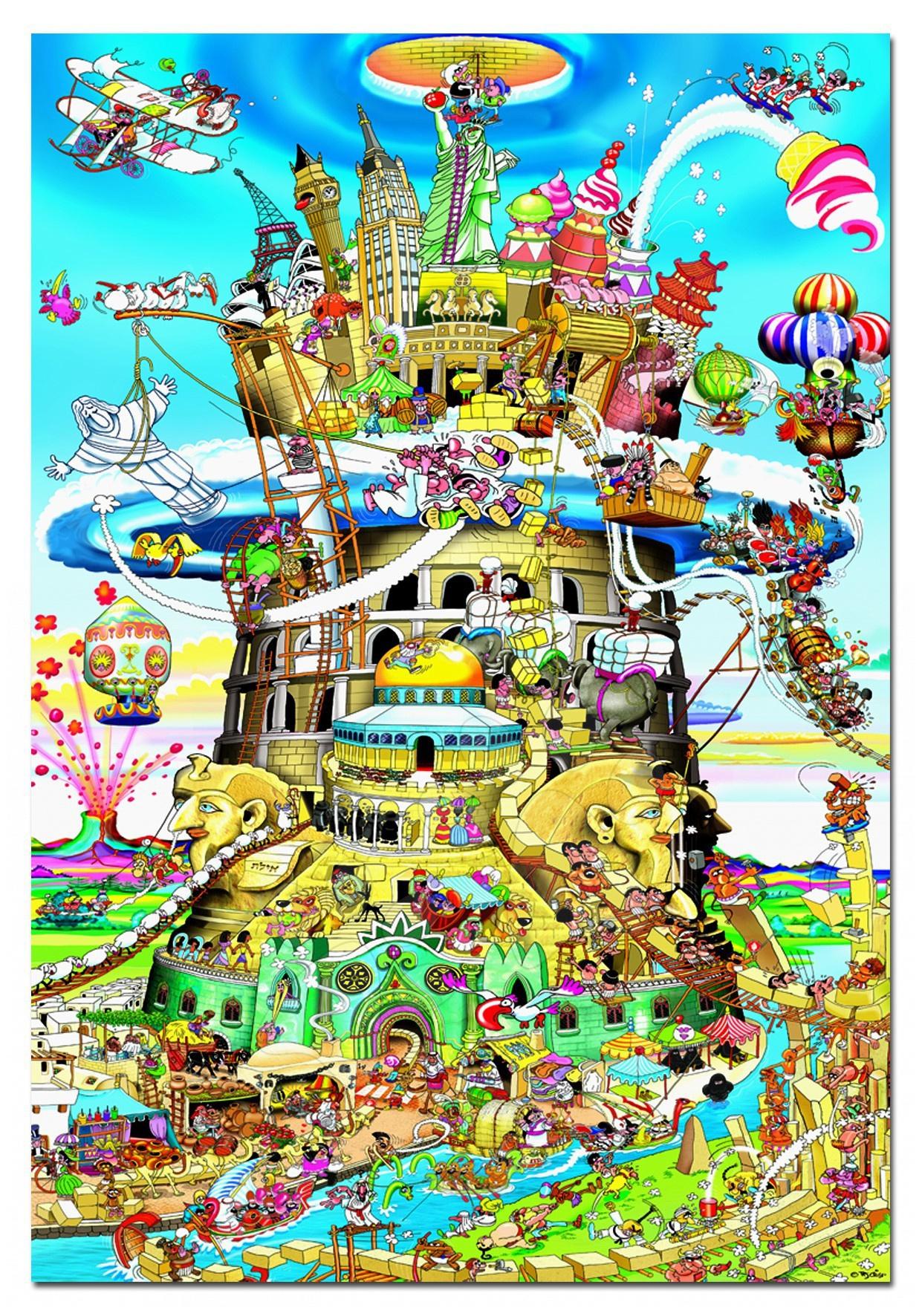 1500 darabos puzzle - Puzzle Bábeltorony Educa 1500 db