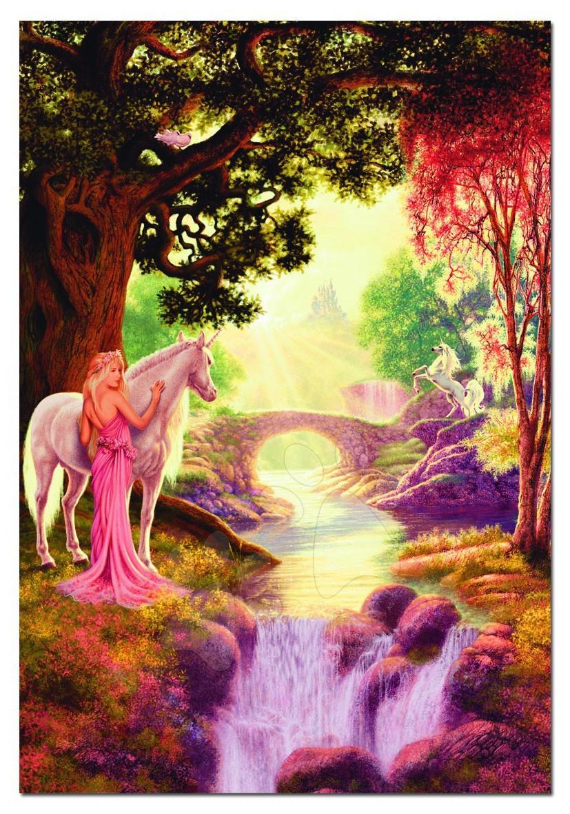Puzzle Genuine Unicorn Valley Educa 1500 dílků a FIX PUZZLE LEPIDLO