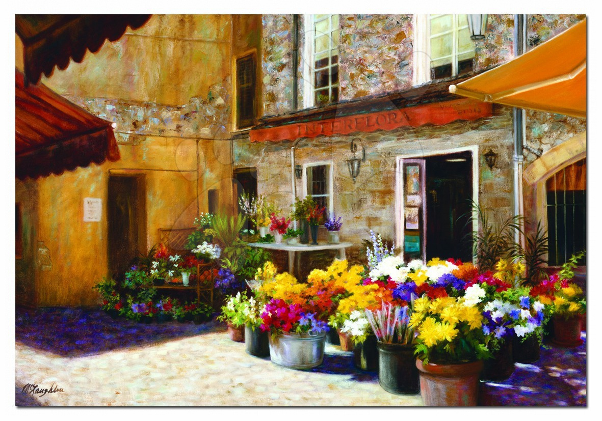 2000 delne puzzle - Educa Puzzle 2000 delov flower shop 96 x 68 cm