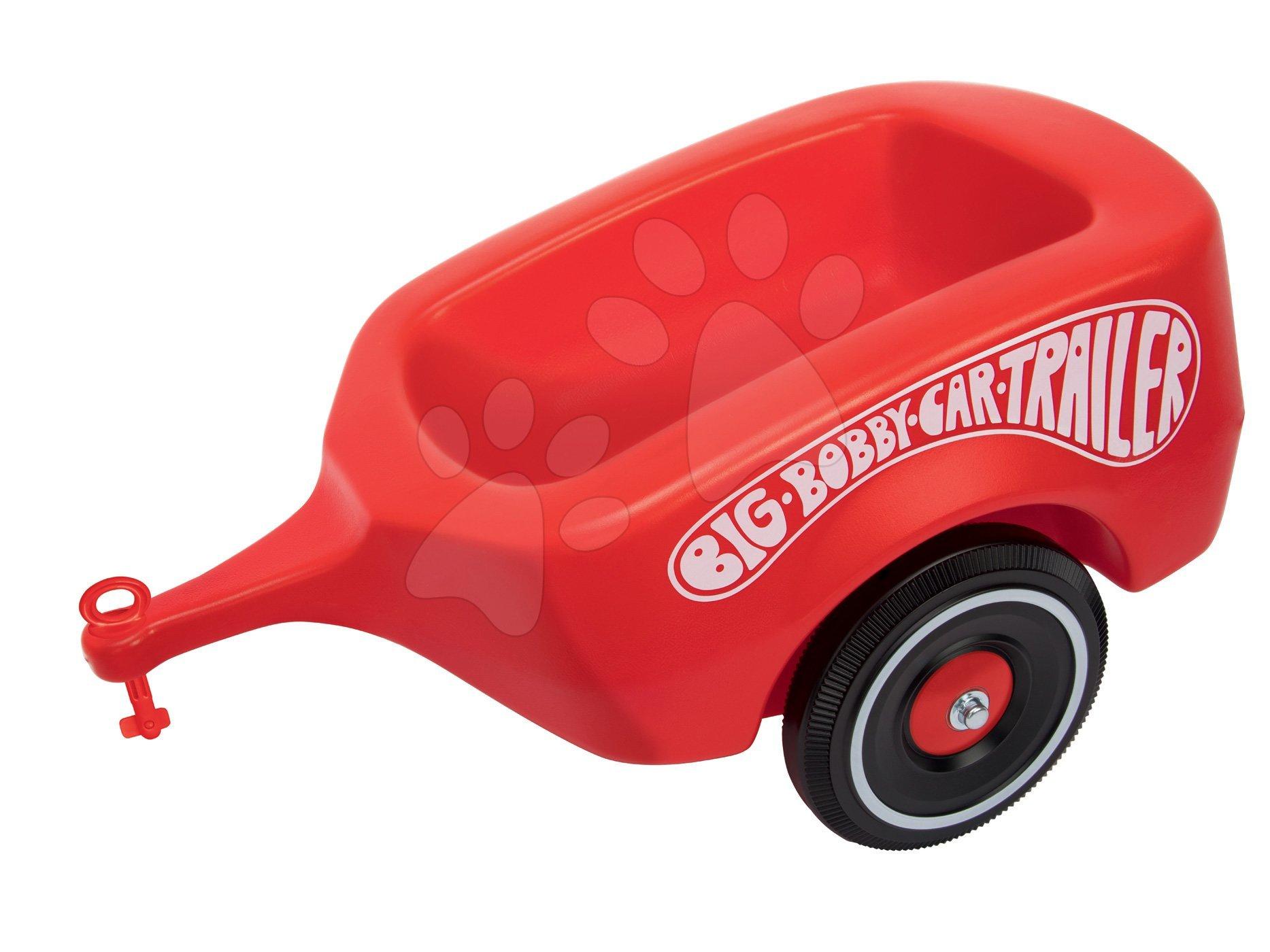 Príslušenstvo k odrážadlám - Prívesný vozík BIG červený k odrážadlám BIG New&Classic&Neo&Next&Scooter od 12 mes