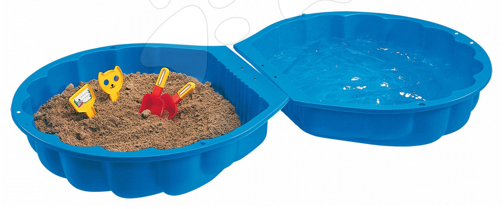 Pieskovisko Mušľa BIG dvojdielne objem 2*100 litrov 88*88 cm modré od 18 mes