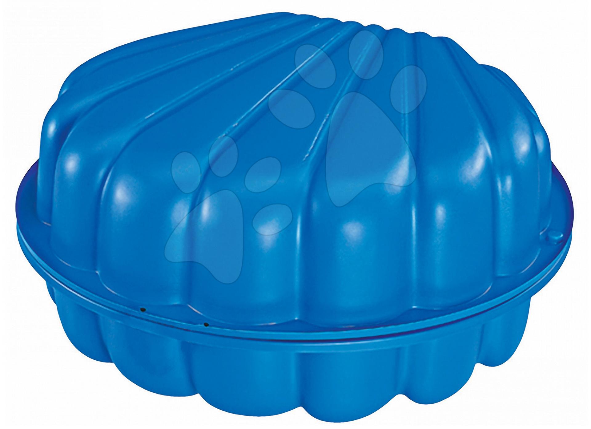 Pieskoviská pre deti - Pieskovisko Mušľa BIG dvojdielne objem 2*100 litrov 88*88 cm modré od 18 mes