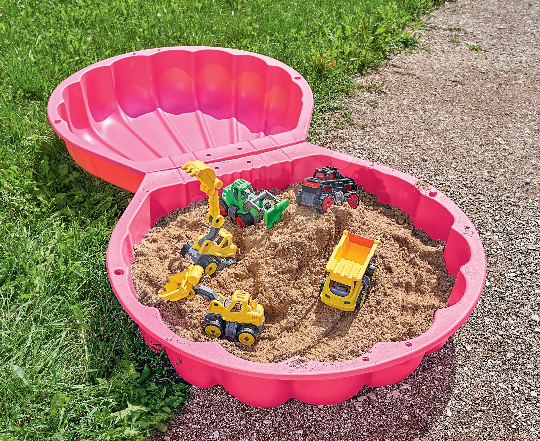 Kétrészes homokozó Watershell Pink BIG kagyló 2*100 l vízre és homokra 88*88*21 cm rózsaszín 18 hó-tól