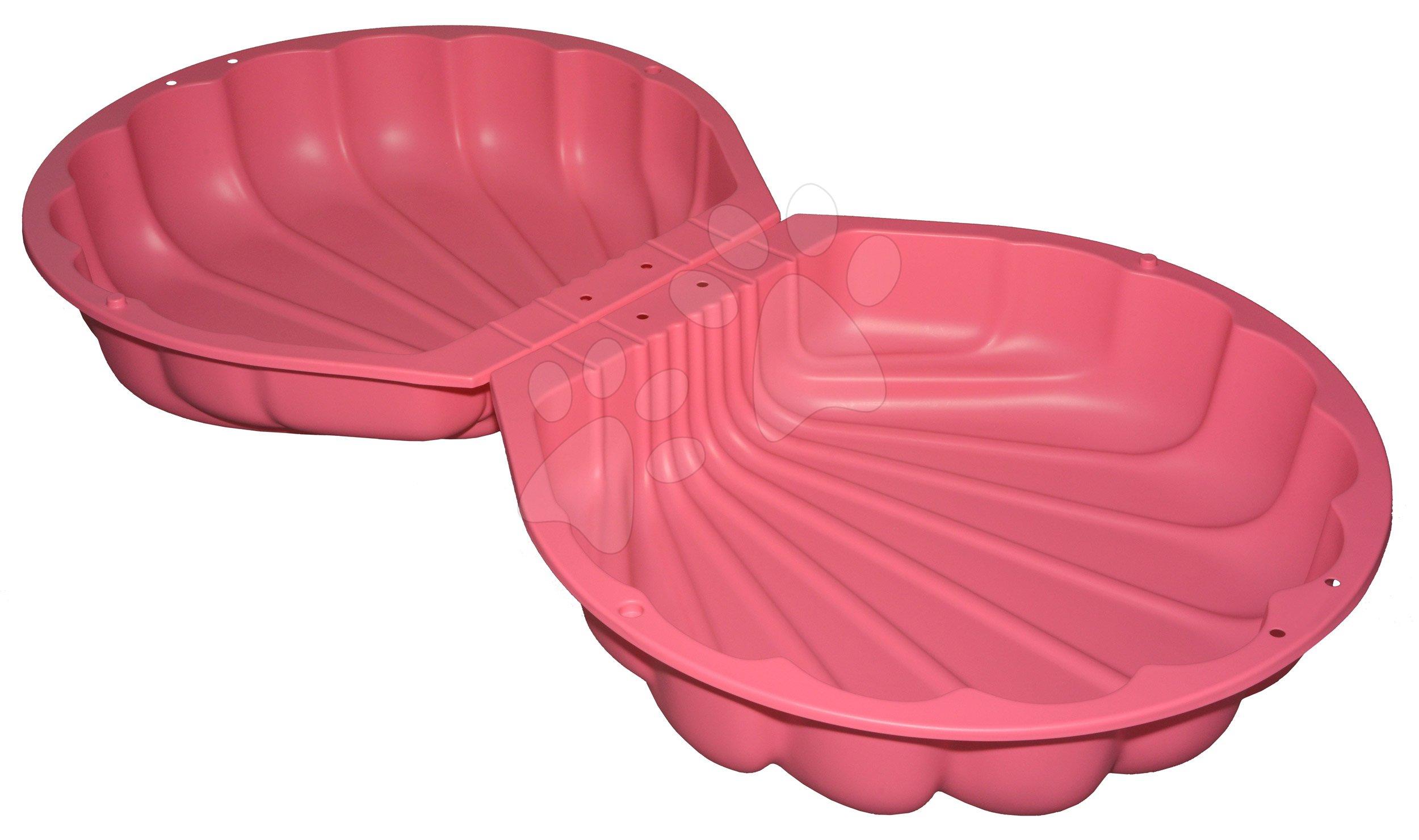Pieskovisko dvojdielne Watershell Pink BIG mušľa 2*100 l na vodu a piesok 88*88*21 cm ružové od 18 mes