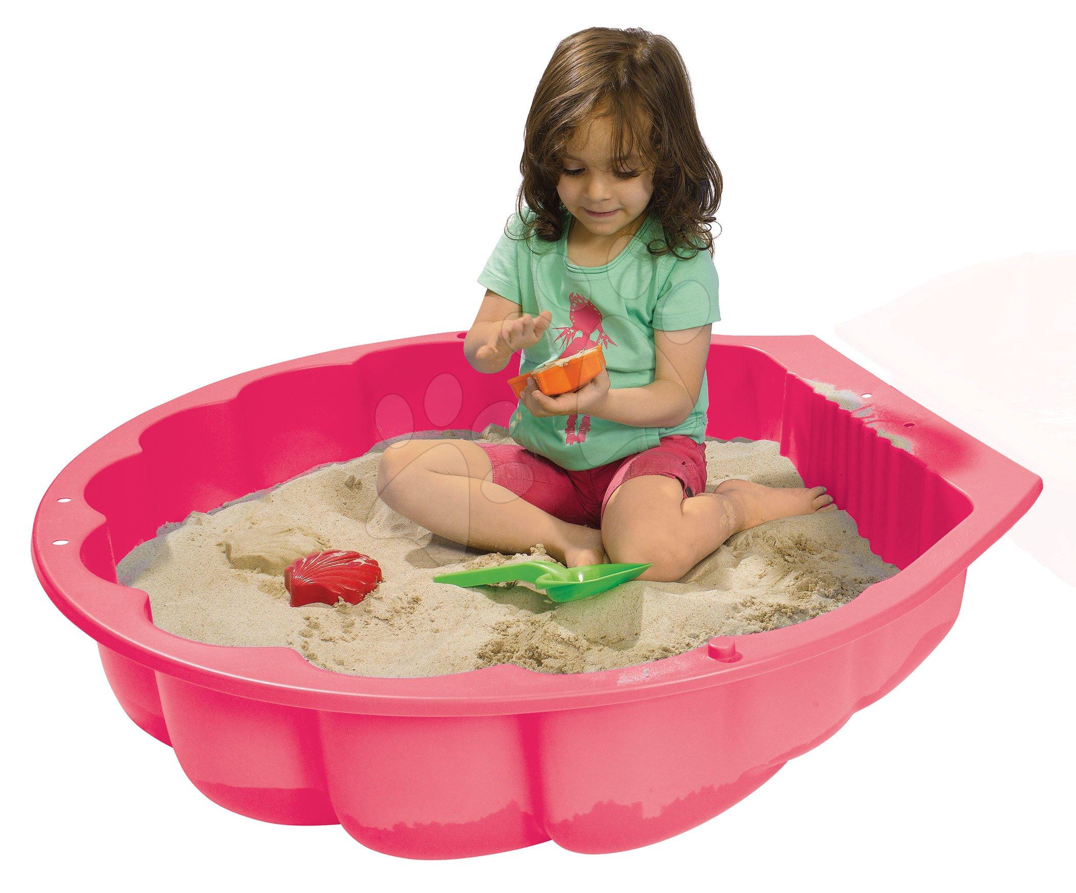 Pieskovisko mušľa Watershell Pink BIG na vodu a piesok 100 litrov ružové 88*88*20 cm od 12 mes