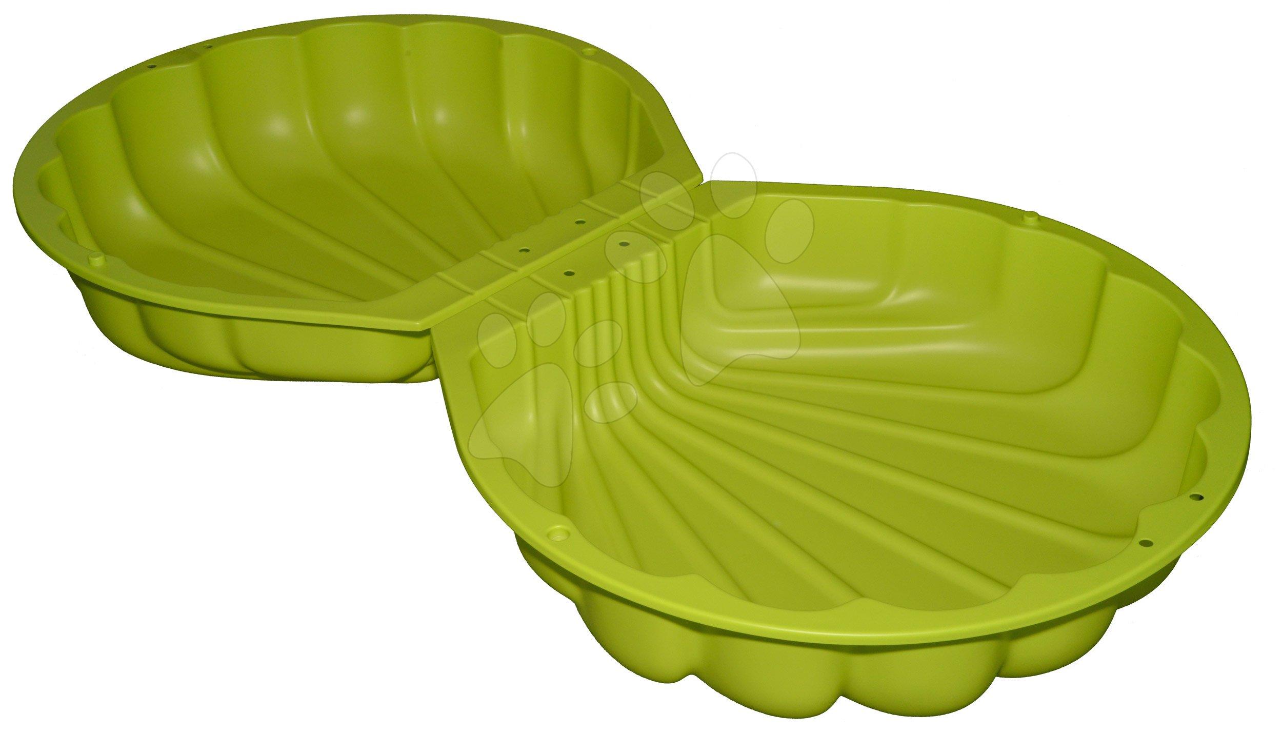 Pieskovisko dvojdielne Watershell Green BIG mušľa 2*100 l na vodu a piesok 88*88*21 cm zelené od 18 mes