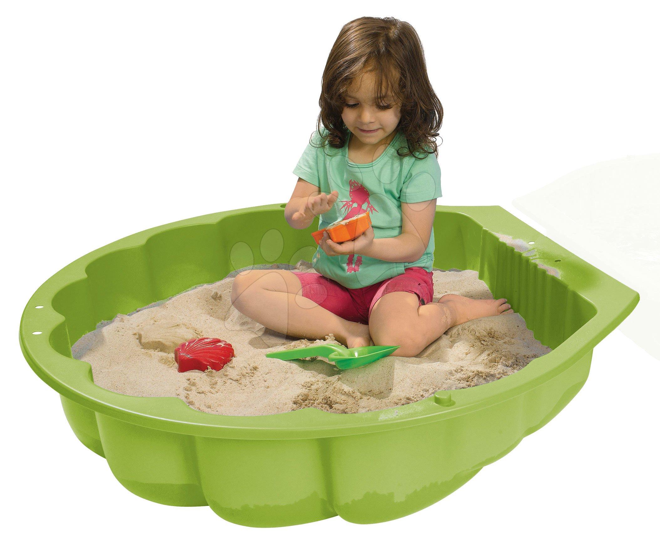 Pieskovisko mušľa Watershell Green BIG na vodu a piesok 100 litrov zelené 88*88*20 cm od 12 mes