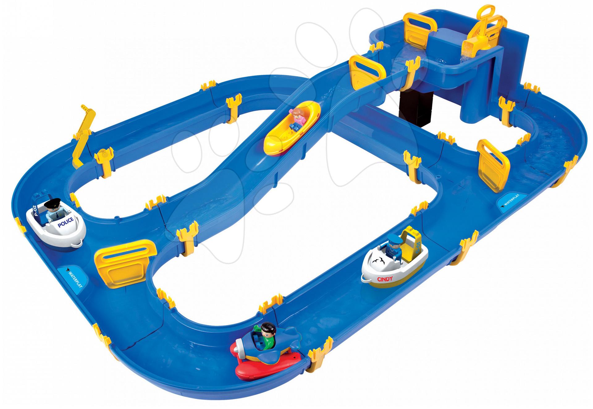Vodne dráhy pre deti - Vodná hra Waterplay Niagara BIG skladacia s lodičkami modrá