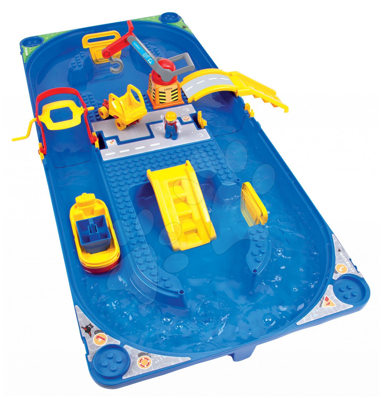Vodne dráhy pre deti - Vodná hra Waterplay Funland BIG v kufríku modrá