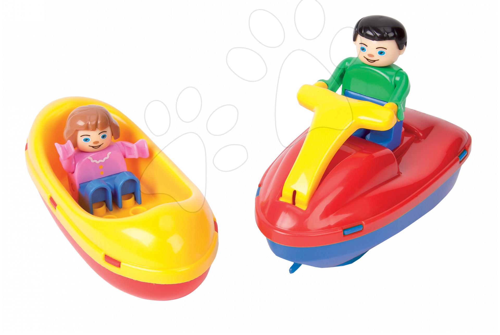 Príslušenstvo k vodným dráham - Loďky Waterplay BIG 2 ks výletné farebné s figúrkami