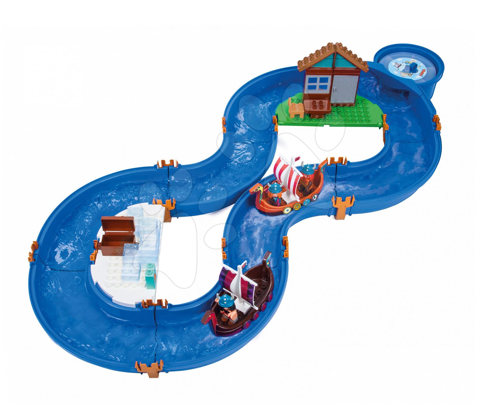 Vodne dráhy pre deti - Vodná hra Waterplay Vikingovia Grónsko BIG skladacia s figúrkami modrá
