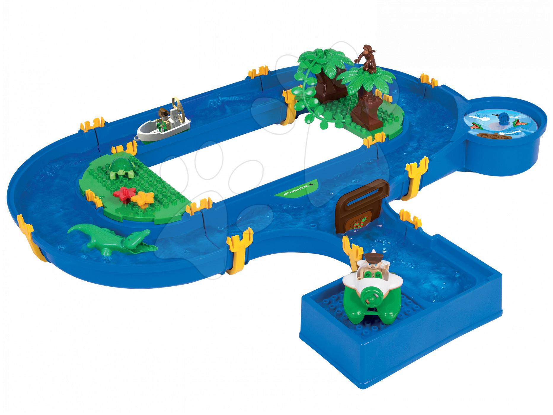 Vodne dráhy pre deti - Vodná hra Waterplay Jungle Adventure BIG skladacia s 5 figúrkami - 32 dielov