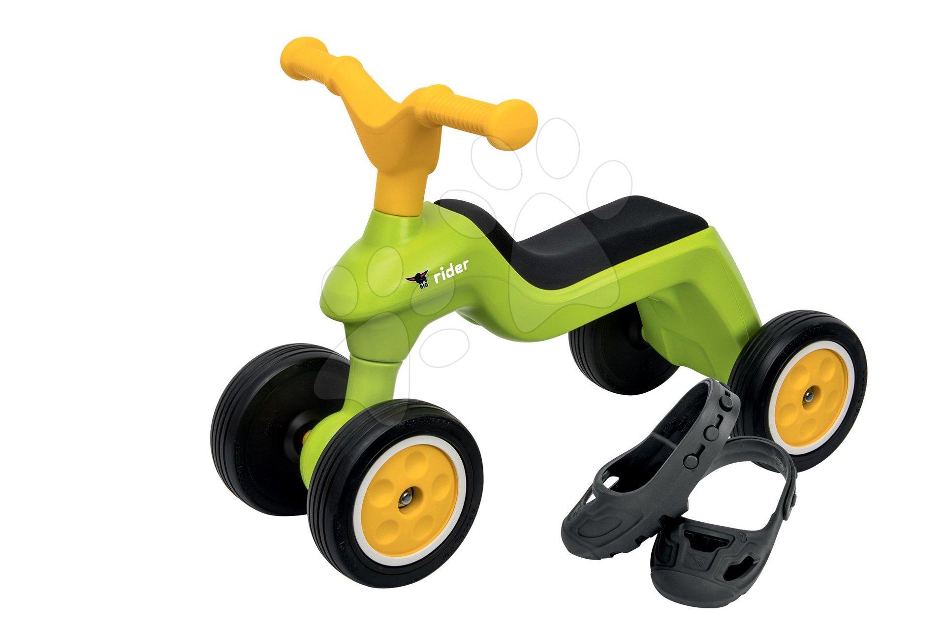 Big odrážadlo Rider vlniace s gumenými kolesami a návleky na topánky 55301 zelené