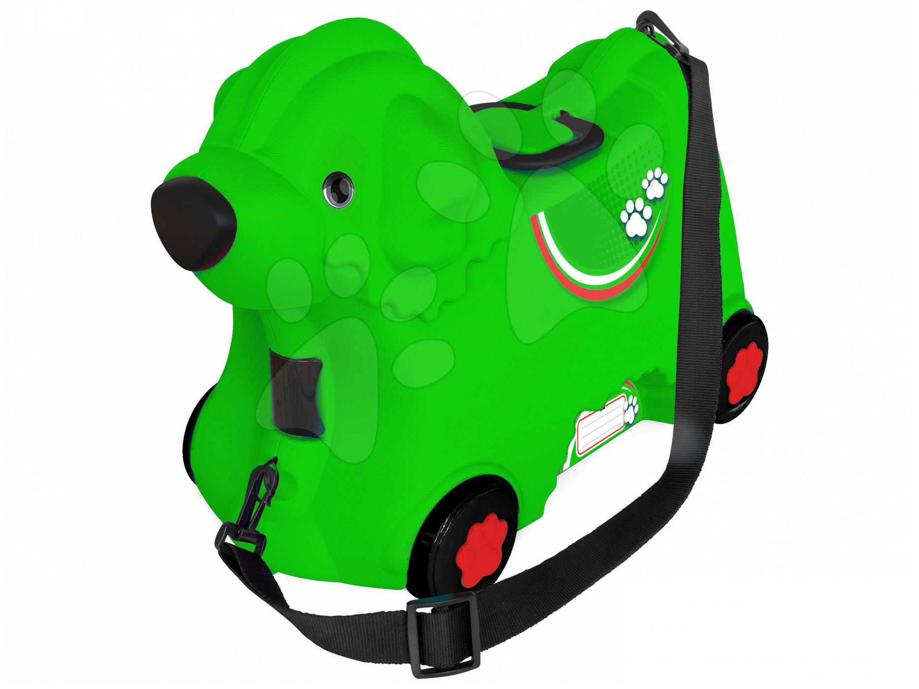 Kufr na kolečkách odrážedlo BIG Bobby Pes zelený 15 L objem s tajnou přihrádkou