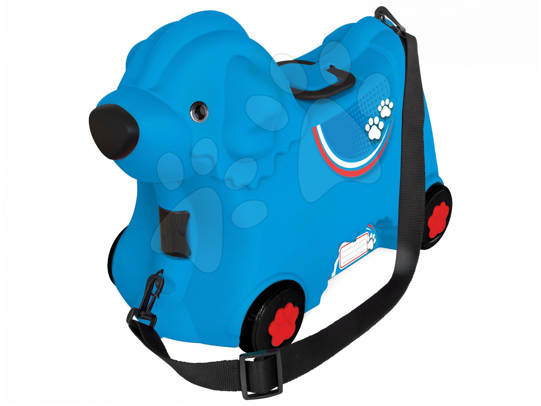 BIG detské odrážadlo kufor na kolieskach Pes Bobby modré 55352