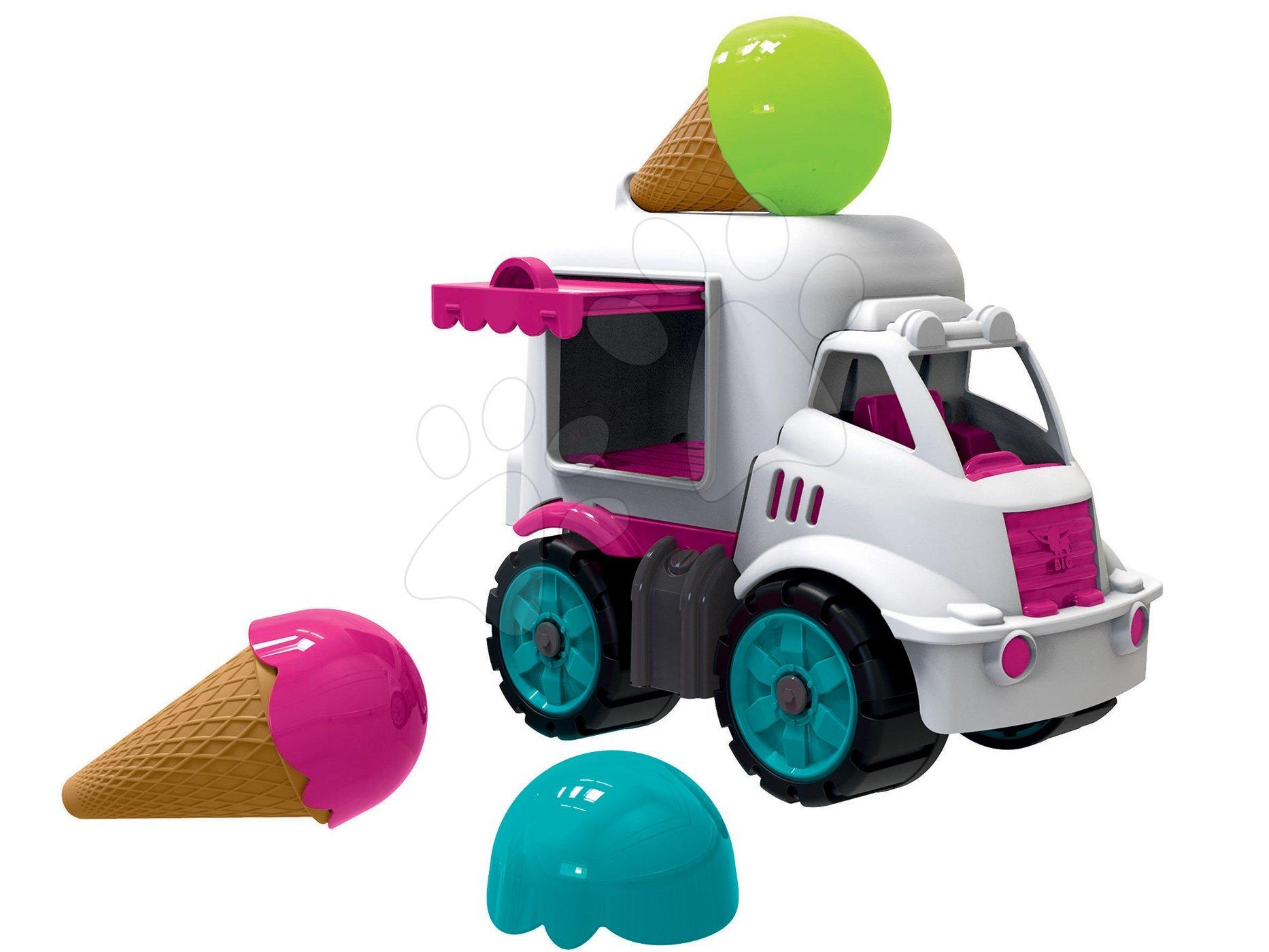 Fagylaltos kocsi BIG Power Worker fagyival - gumi kerekek 24 hó-tól