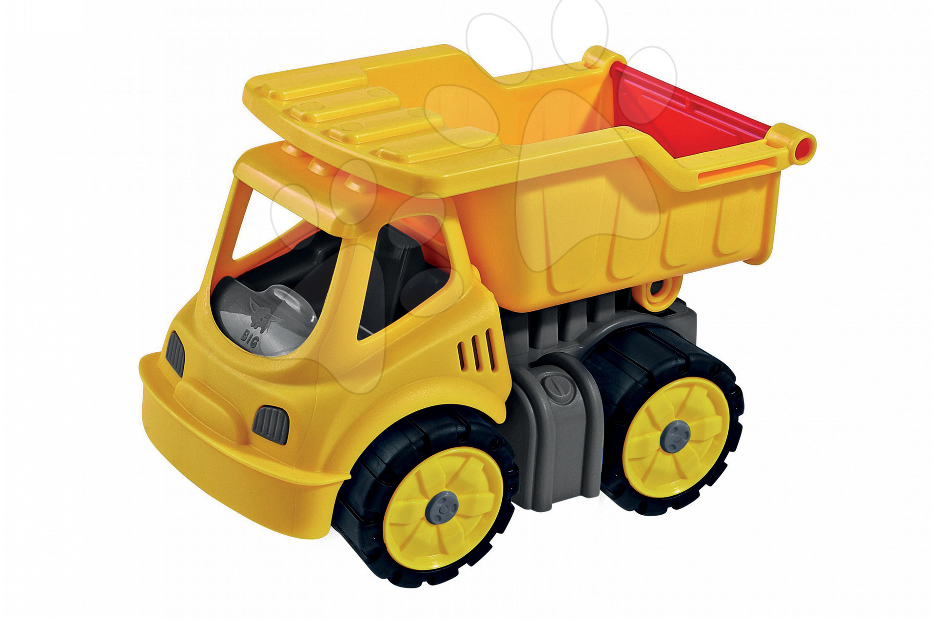 Nákladní auto Power BIG pracovní stroj délka 16 cm žlutý od 24 měsíců