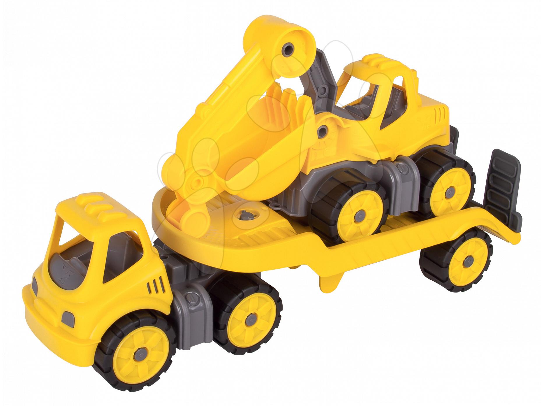 Stavebné stroje - Autá transportér a bager Power BIG pracovné dĺžka 41 cm od 24 mes