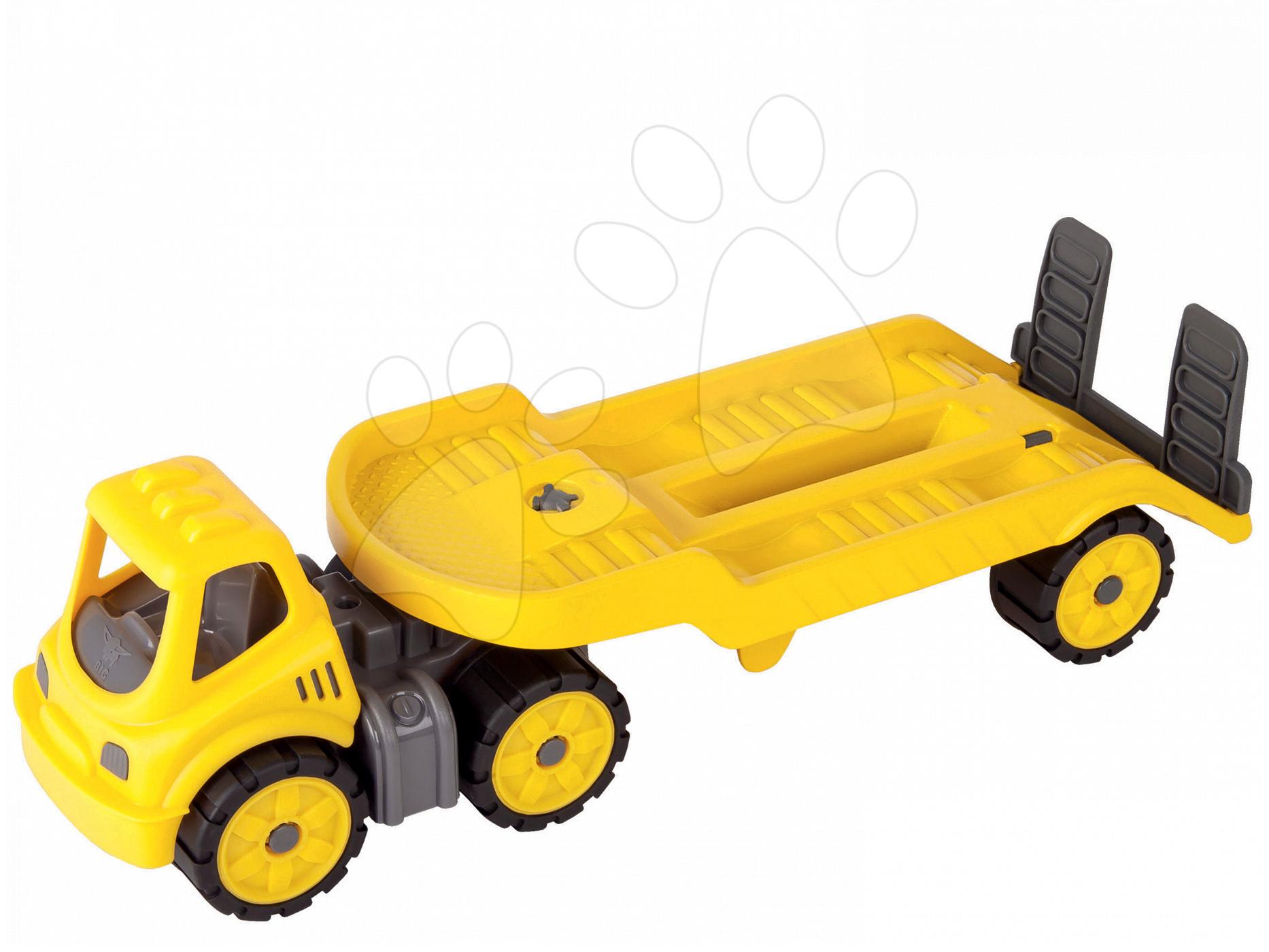 Transportér Power BIG pracovní auto délka 41 cm žluté od 24 měsíců