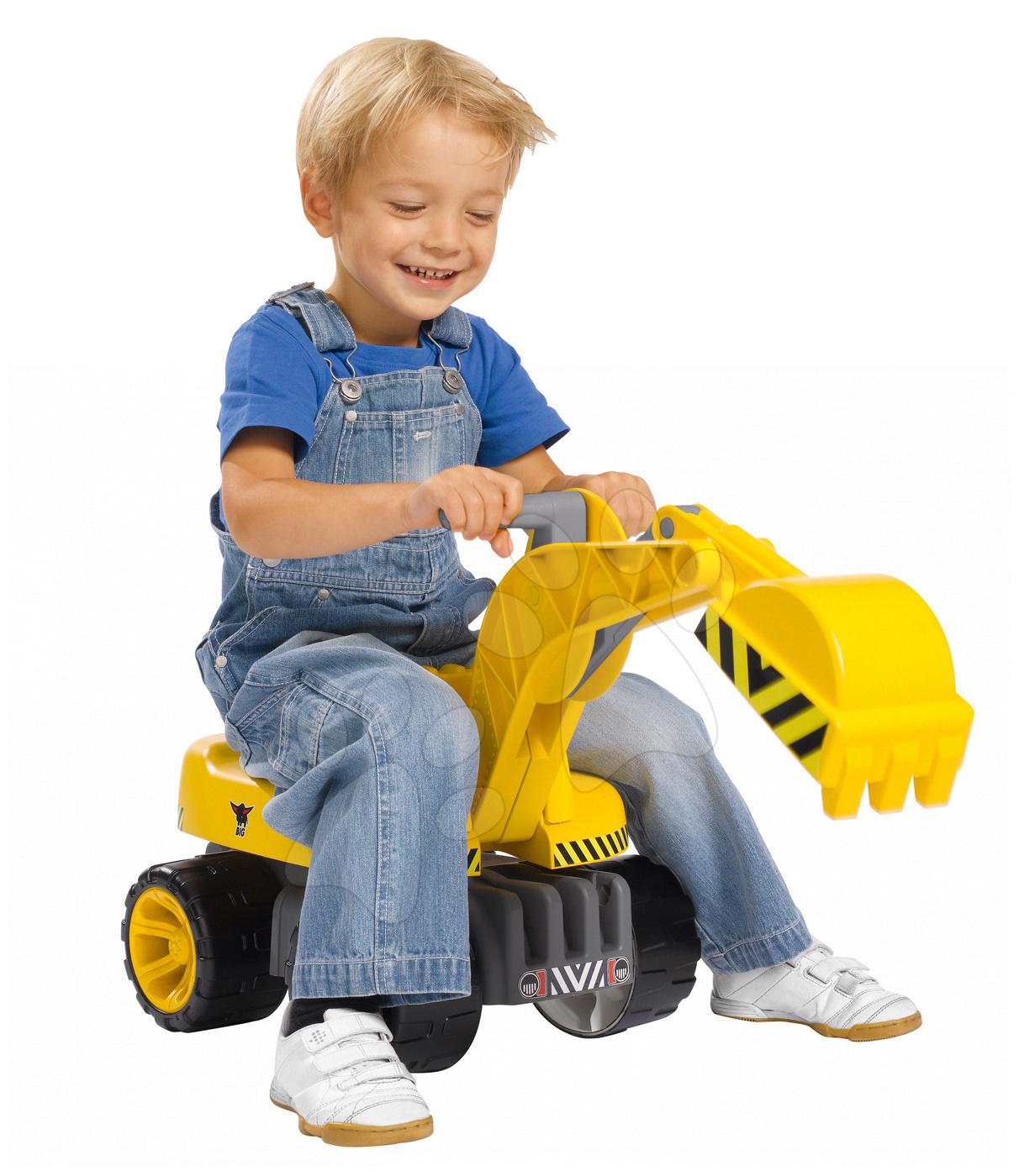 Odrážedla od 18 měsíců - Bagr Max Power BIG se sedadlem délka 73 cm žlutý