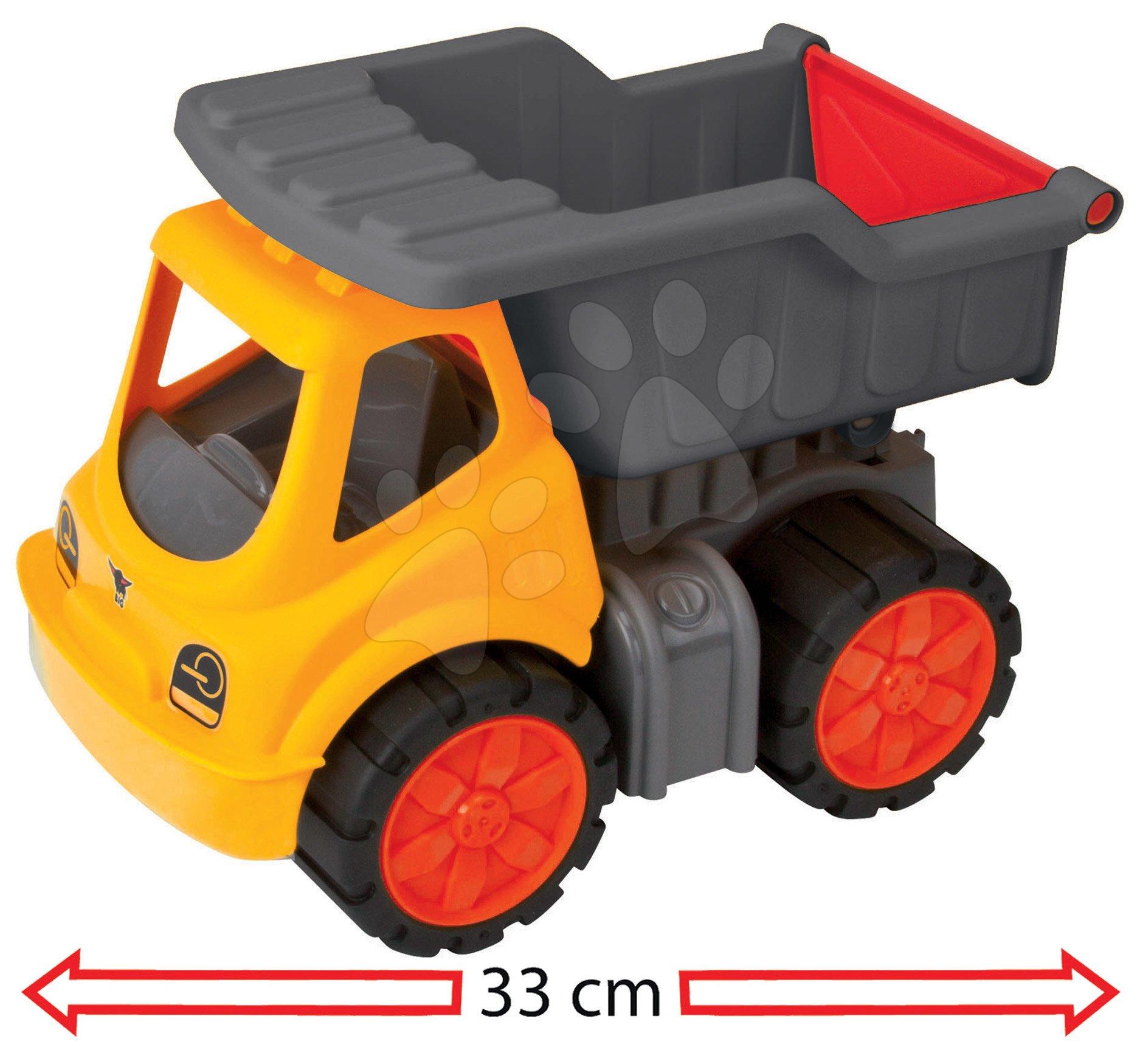 Nákladné auto Dumper Power Worker BIG pracovný stroj 33 cm - gumené kolesá od 2 rokov