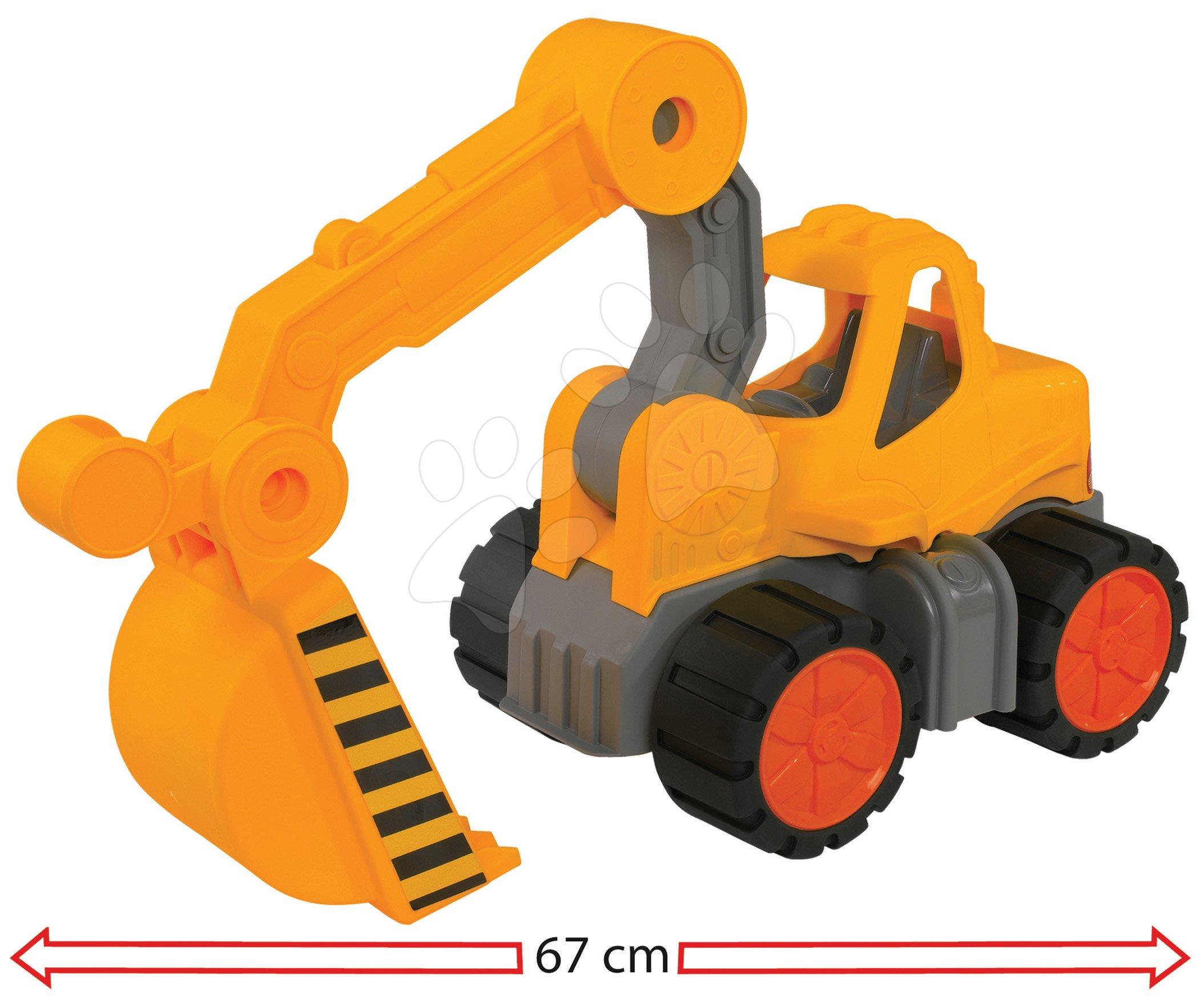 Bager Digger Power Worker BIG pracovný stroj 67 cm - gumené kolesá od 2 rokov