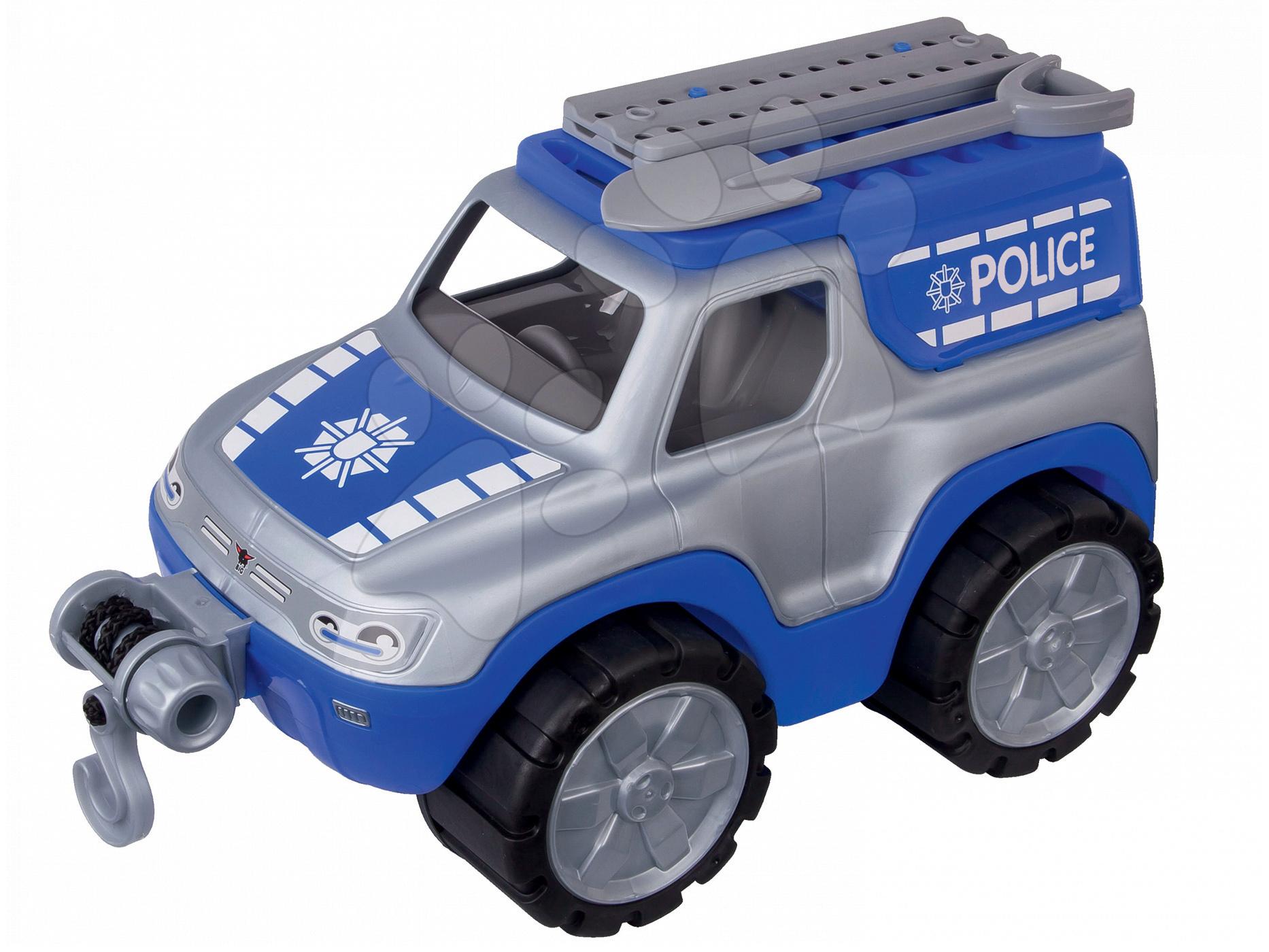 Stavebné stroje - Auto Polícia BIG pracovné dĺžka 33 cm modro-sivé od 24 mes