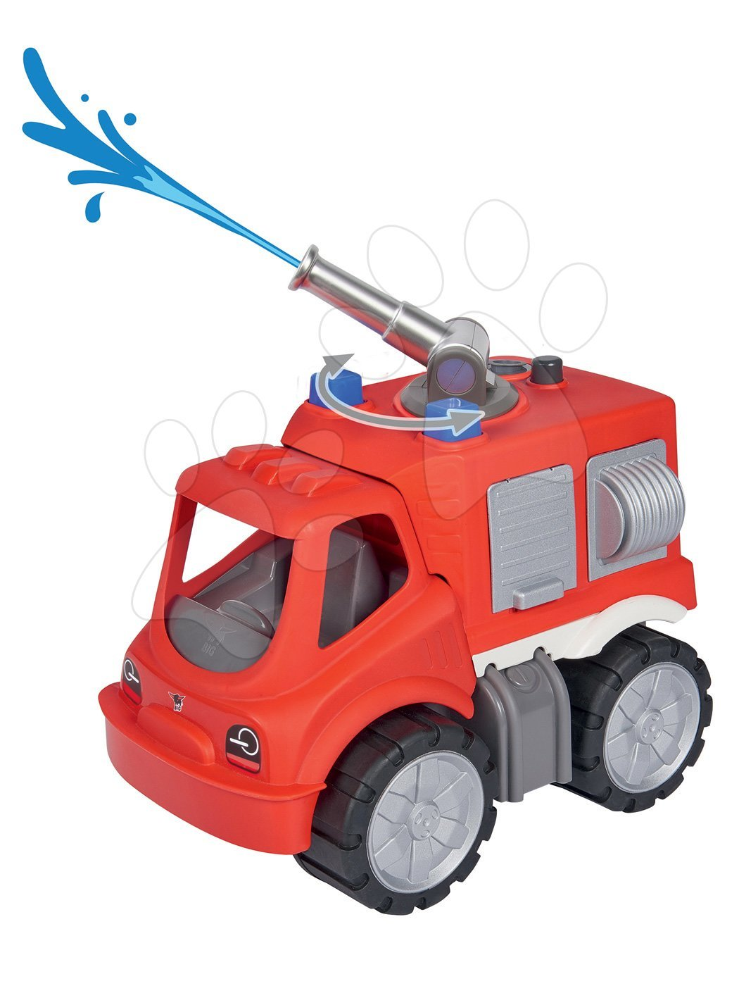 Teherautók - Tűzoltóautó vízágyúval Power Worker Fire Fighter Car BIG piros 2 évtől