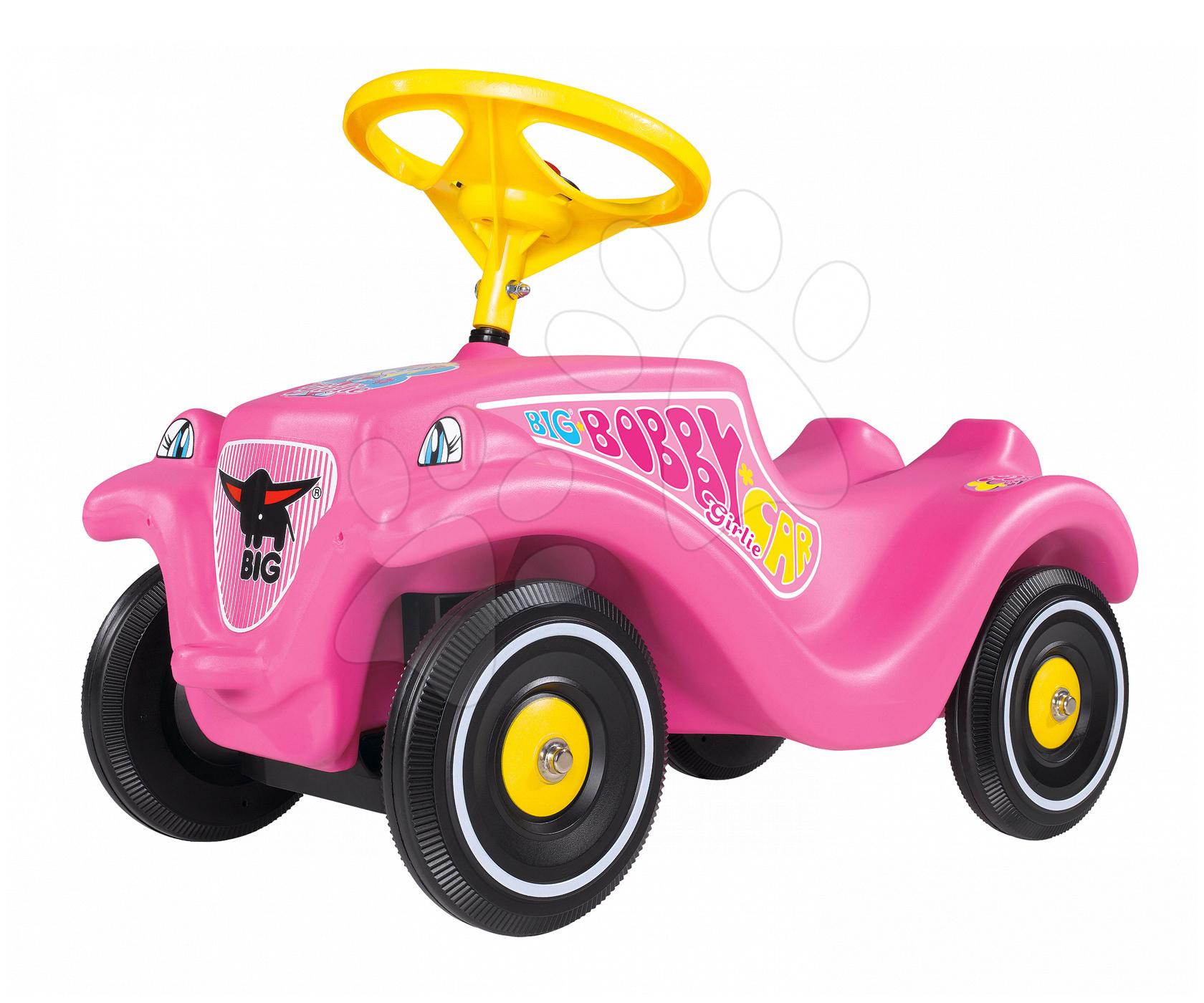 Odrážadlá od 12 mesiacov - Odrážadlo Bobby Classic Girlie BIG s klaksónom ružové od 12 mes