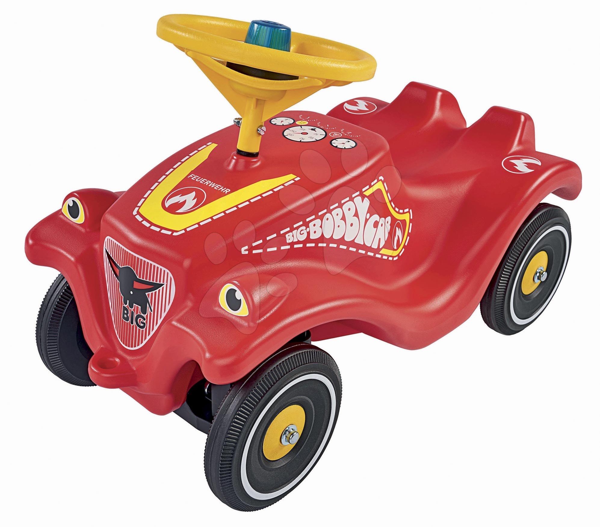Odrážadlo auto Bobby Car Classic Požiarnik BIG červené so zvukom a svetlom a nálepkami v rôznych jazykoch od 12 mes