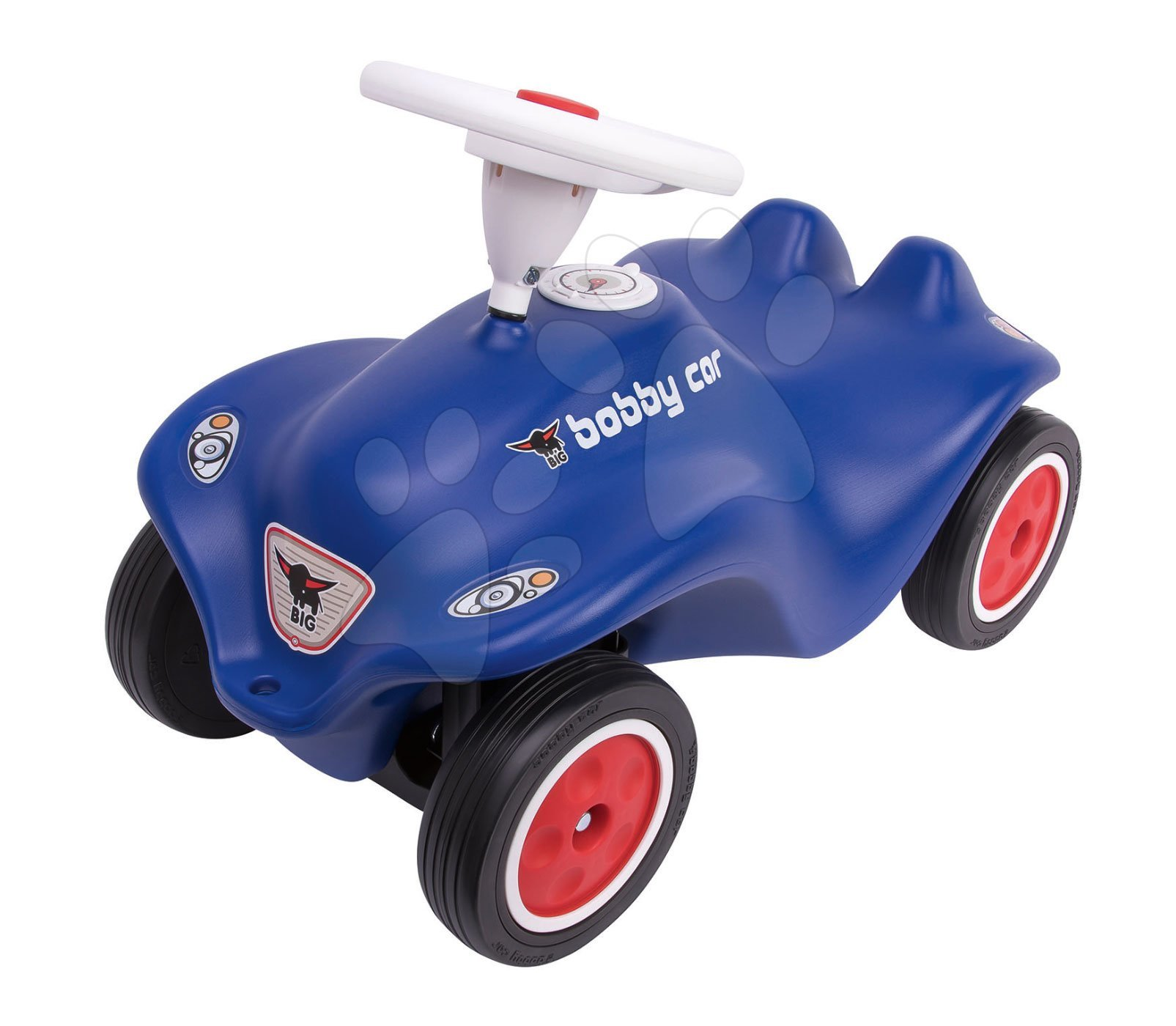 Odrážadlo autíčko Royal blue BIG New Bobby Car s klaksónom a gumené kolesá modré od 12 mes