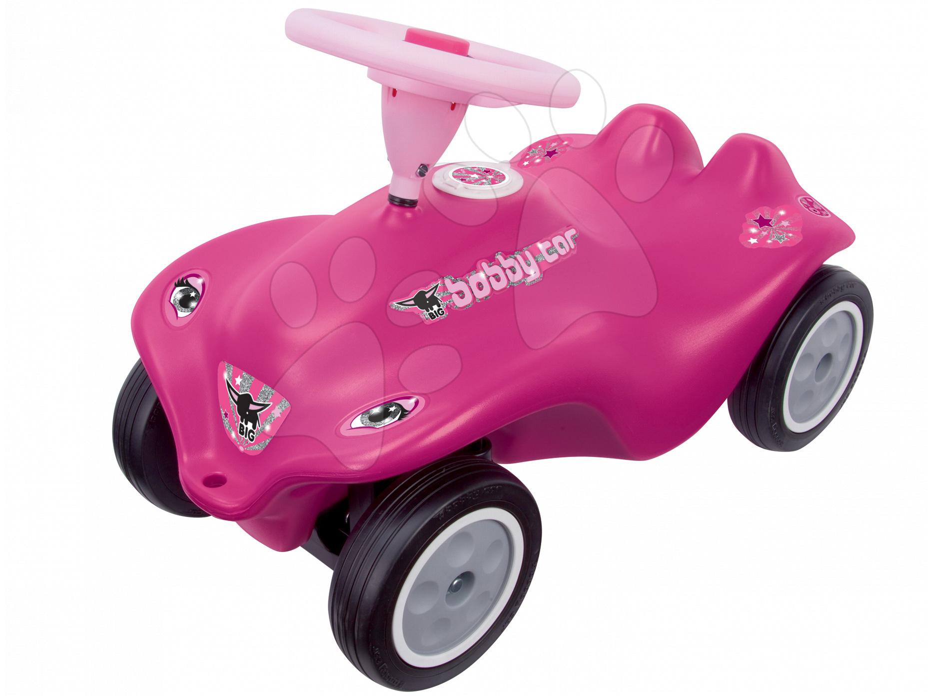 Odrážedlo auto Rockstar New Bobby Car BIG s klaksonem růžové od 12 měsíců