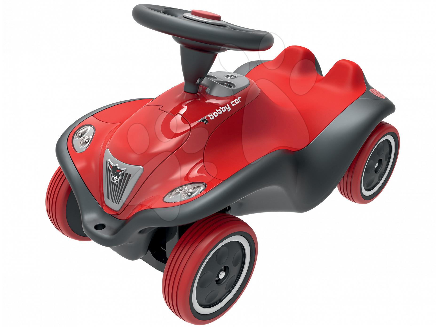 Babytaxiu maşină Next Bobby Car BIG cu efecte sonore şi luminoase roşu-gri de la 12 luni