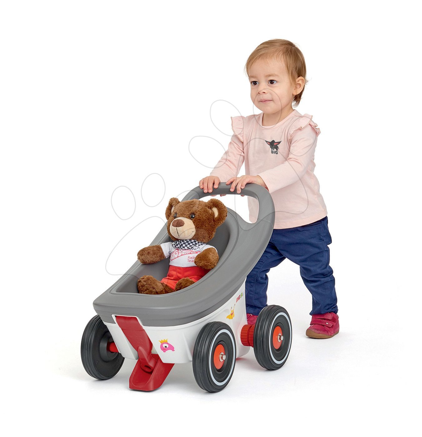Dětská chodítka - Chodítko a kočárek a přívěs Buggy 3v1 BIG s brzdou ke všem odrážedlům New&Classic&Neo&Next&Scooter od 12 měsíců