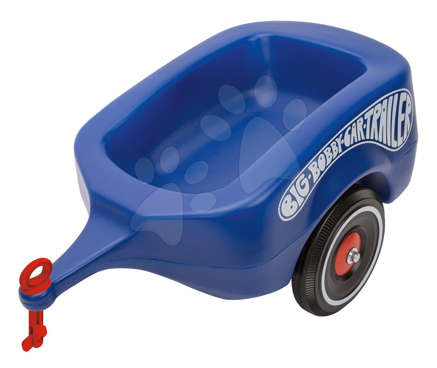 Prívesný vozík BIG modrý k odrážadlám New&Classic&Neo&Next&Scooter od 12 mes