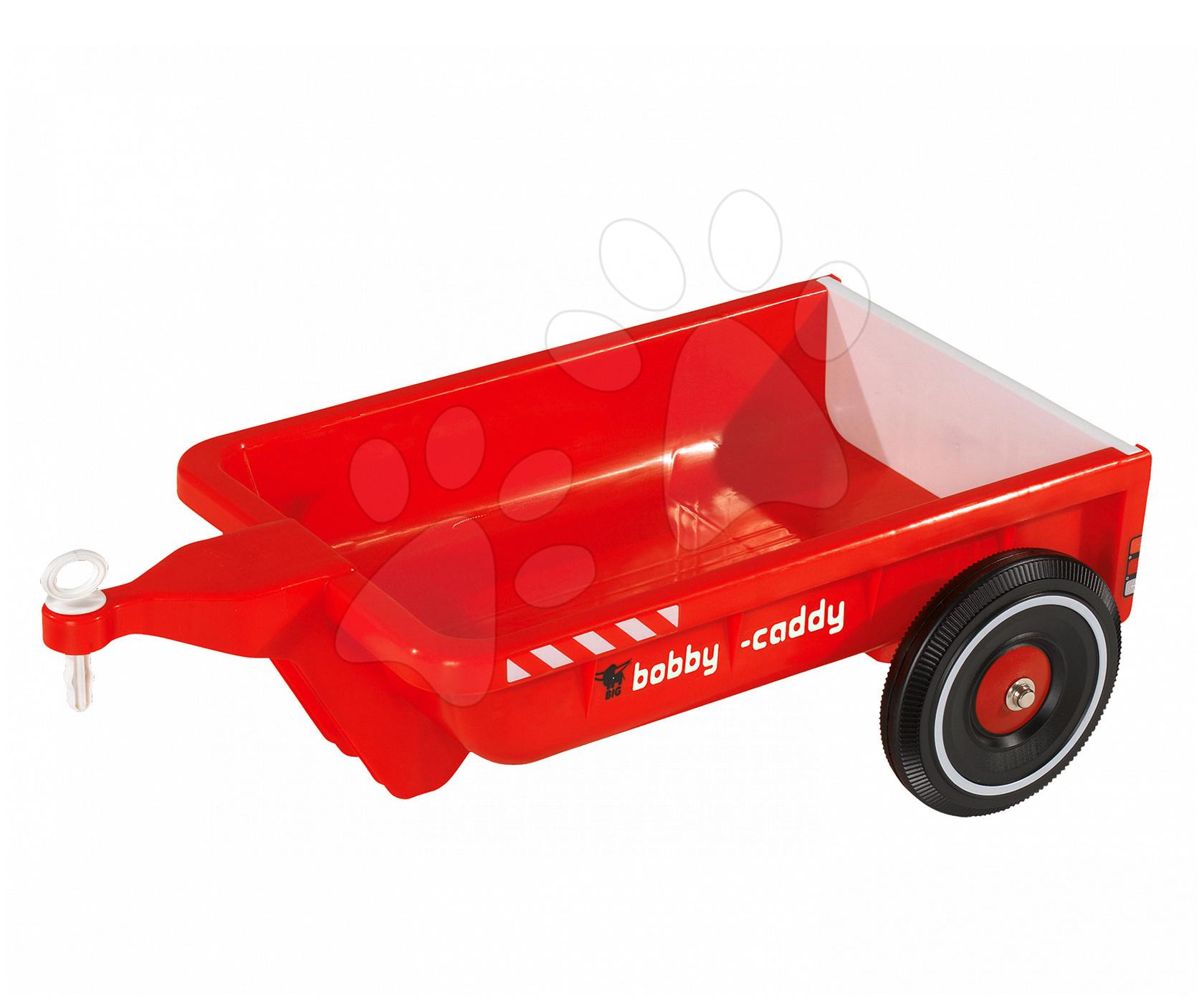 BIG hranatý prívesný vozík 56292 červený