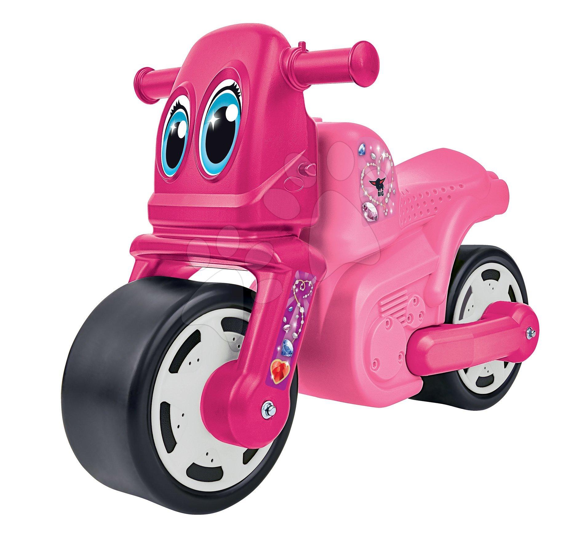 Odrážedlo motorka Bike Girl BIG růžové od 18 měsíců