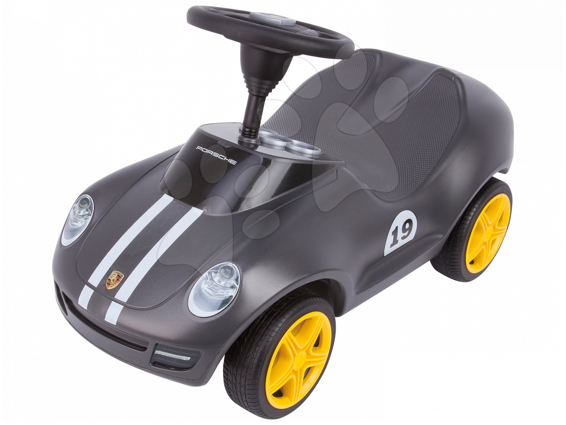 Odrážedlo Baby Porsche BIG se zvukem stříbrné od 18 měsíců