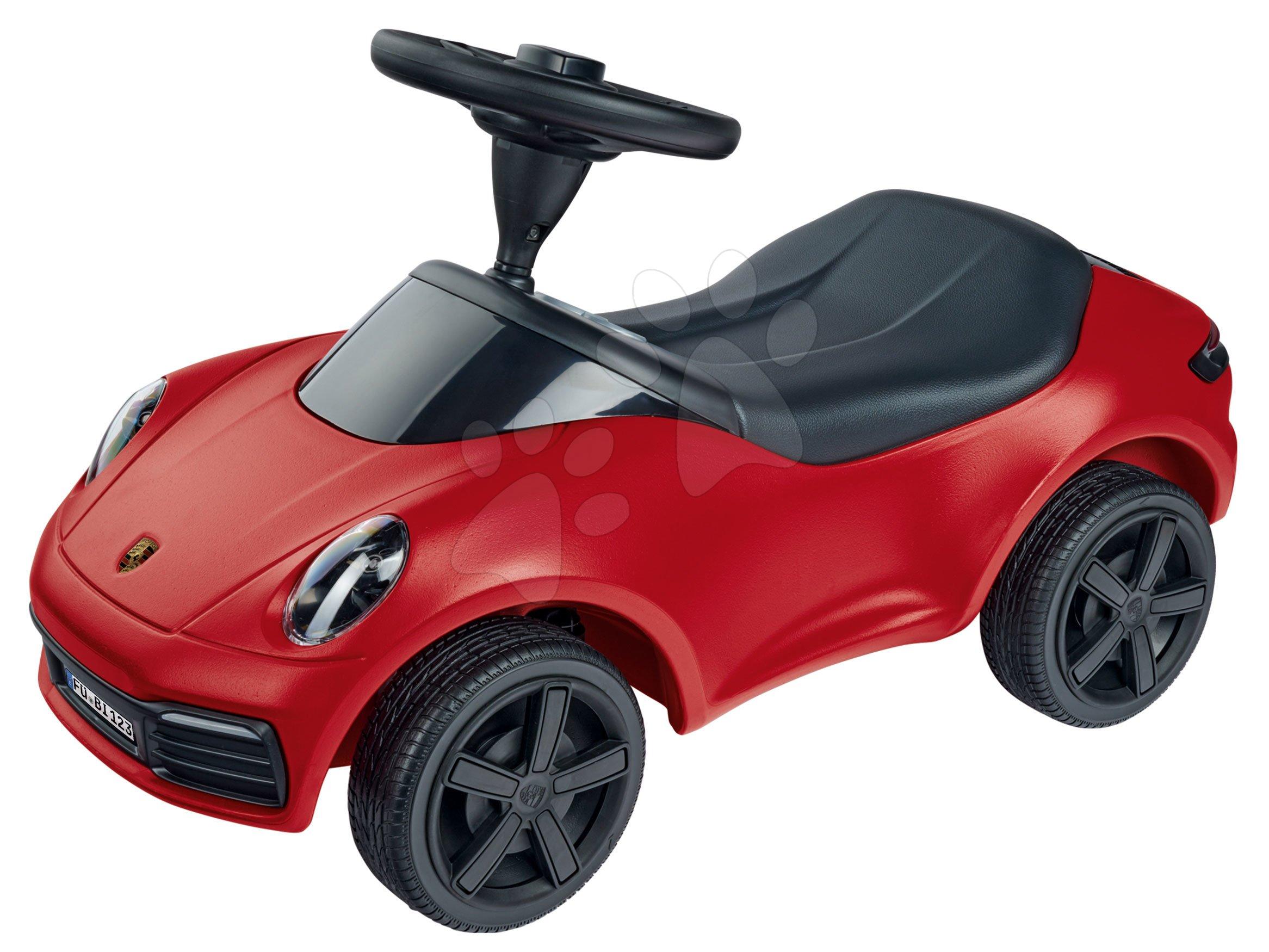Poganjalci od 18. meseca - Poganjalec avto Baby Porsche 911 BIG z zvokom in pristnimi detajli z delavnice Porsche rdeč od 18 mes
