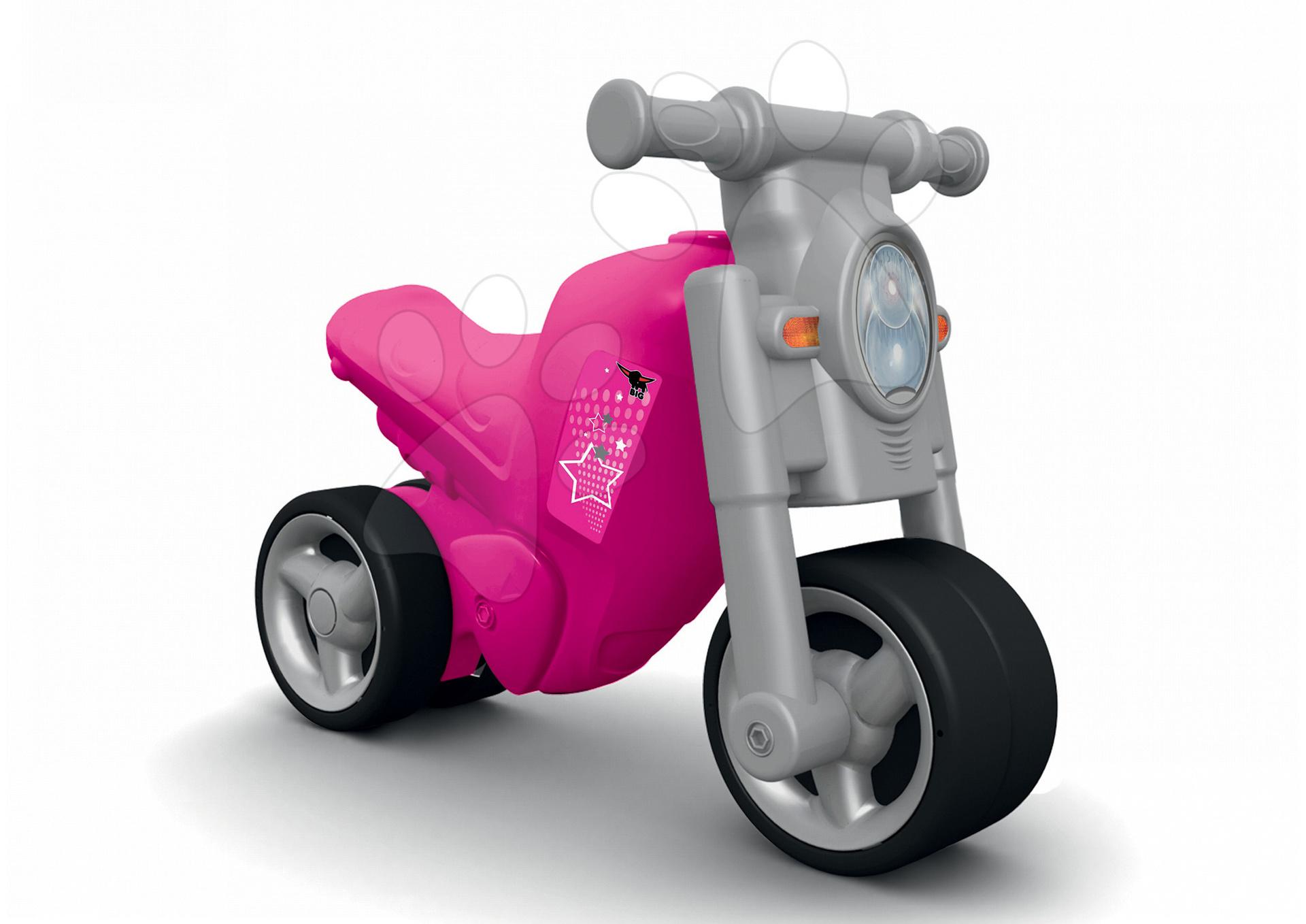 23e5d9bb37f9 BIG 56362 odrážadlo motorka Girl Bike šedo-ružové od 18 mesi