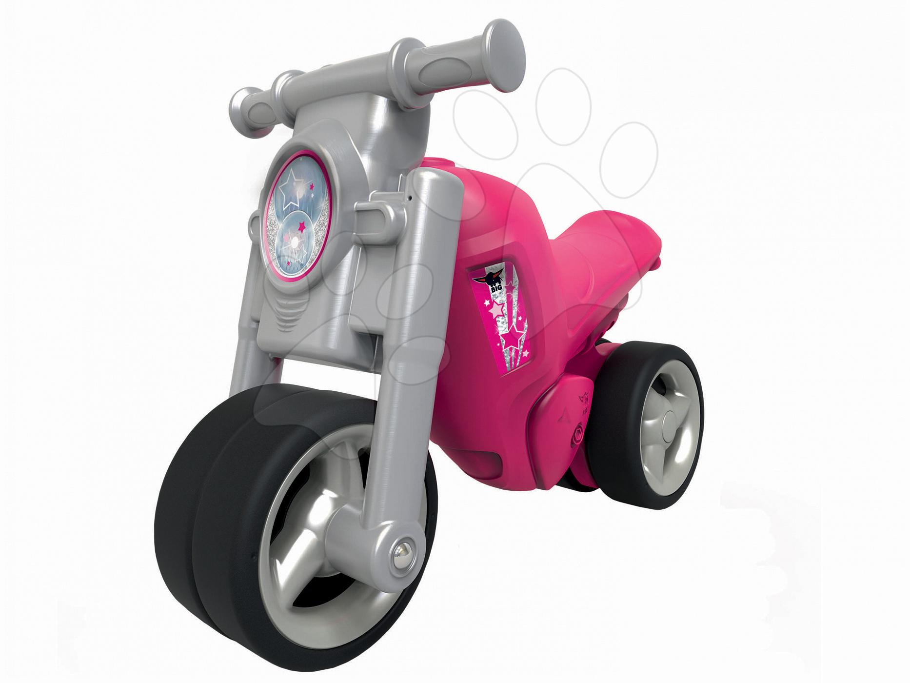 c477c6d4ed61 BIG 56362 odrážadlo motorka Girl Bike šedo-ružové od 18 mesiacov