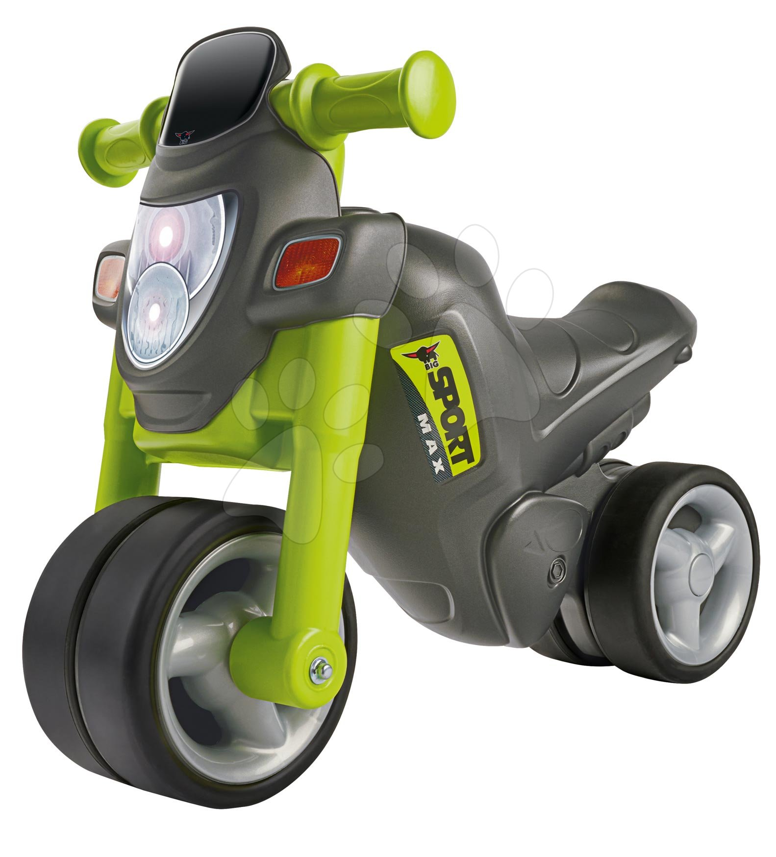 Odrážadlá od 18 mesiacov - Odrážadlo motorka Sport Bike Green BIG so zvukom a široké dvojité gumené kolesá zelené od 18 mes