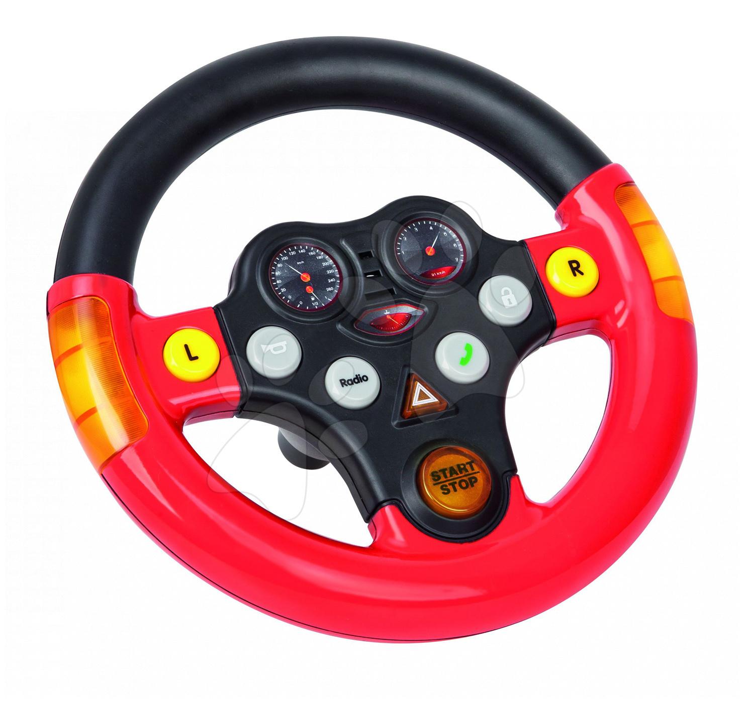 Príslušenstvo k odrážadlám - Interaktívny volant k odrážadlám BIG New&Classic&Next&Neo červeno-čierny od 12 mes