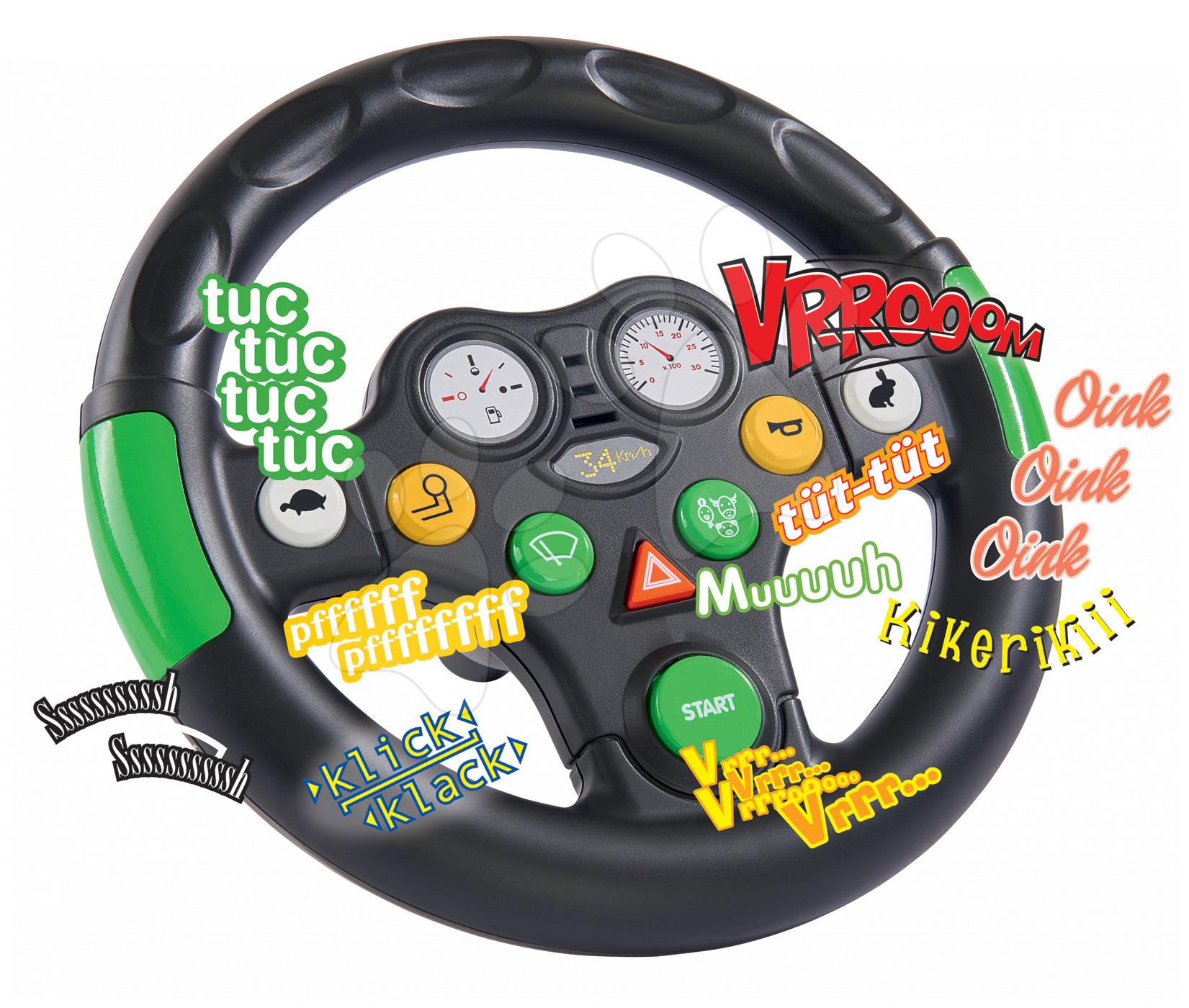 Príslušenstvo k odrážadlám - Interaktívny volant BIG so zvukom k odrážadlám BIG New&Classic&Next a BIG traktorom od 24 mes