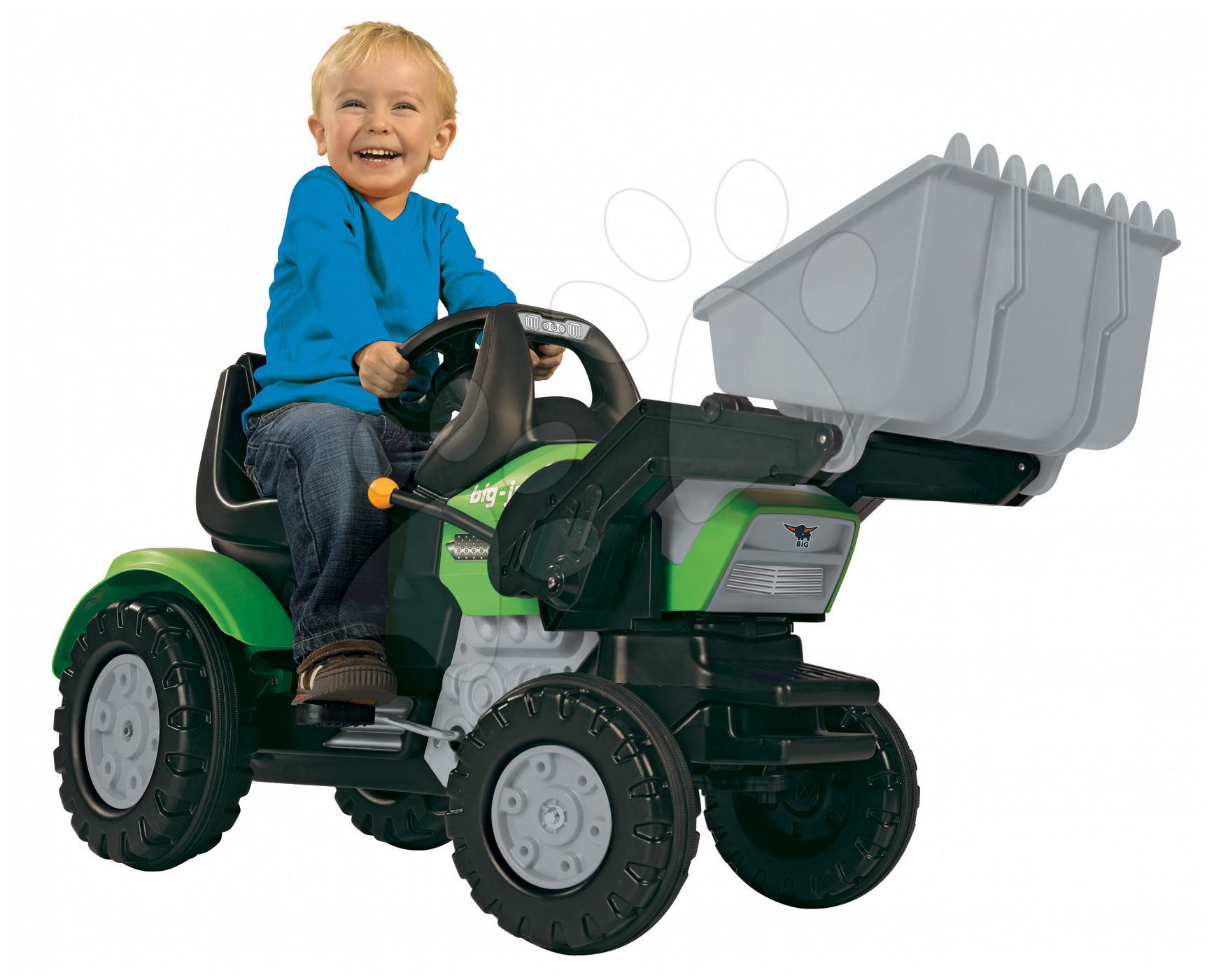 Traktor Maxi John XL BIG s nakladačem zelený