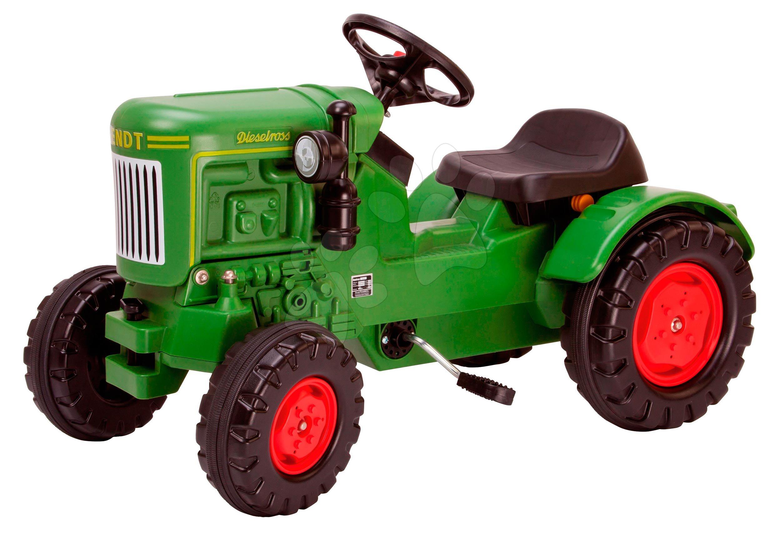 Detské šliapacie vozidlá - Traktor na šliapanie Fendt Dieselross BIG zelený