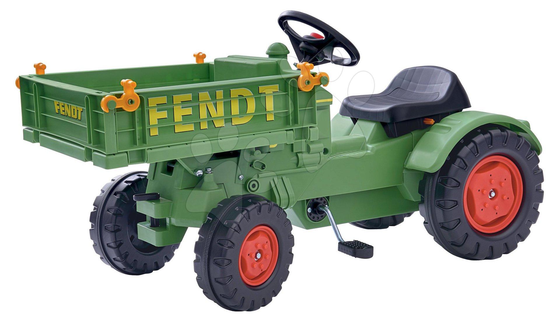 Šlapací traktor Fendt BIG na řetězový pohon s plošinou a klaksonem