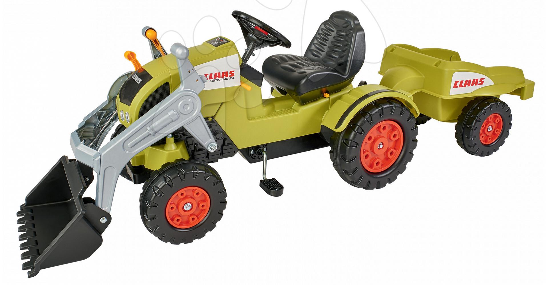 Traktor na šlapání Claas Celtis BIG s vlečkou