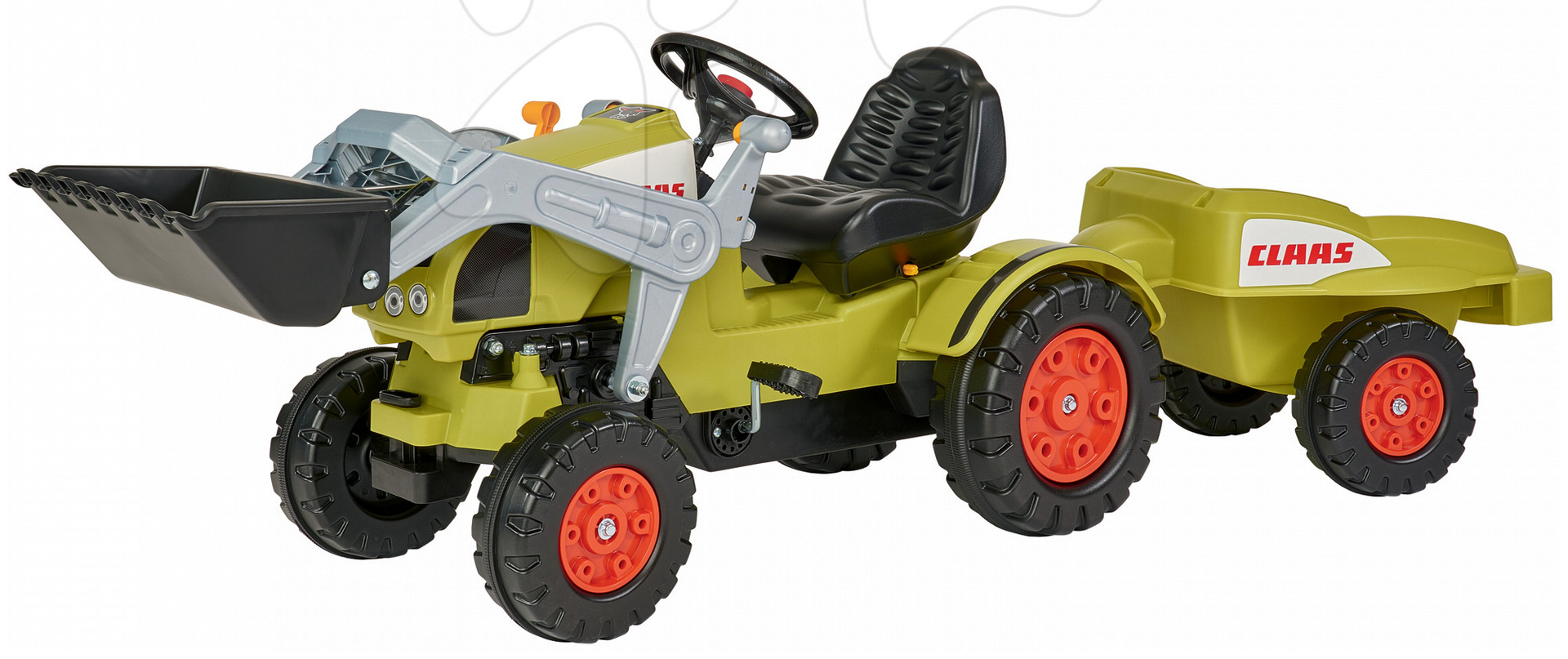 Otroška vozila na pedala - Traktor na pedale Claas Celtis BIG s prikolico